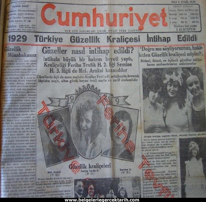 3 Eylül 1929 tarihli Cumhuriyet gazetesi